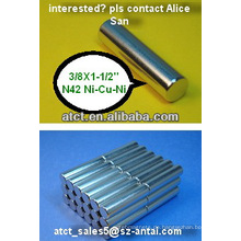 Bar-Magnet D9.53x38.1MM/magnetic Stangen