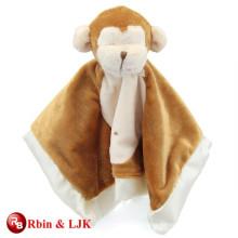 custom promotional lovely animal head plush baby blanket