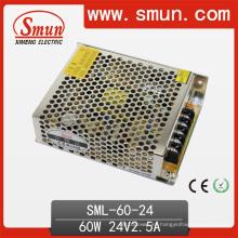 Iluminación LED 60W diseñada para fuente de alimentación 24V 2.5A
