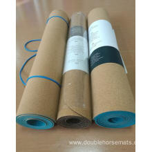 The cork material yoga mat
