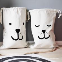 China Factory Good Selling Large and Medium Polyester Nylon  Laundry Washing Bag Canvas cotton Laundry  Bag