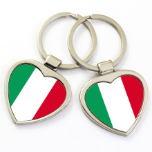 China factory supply custom cheap metal country flag keychain