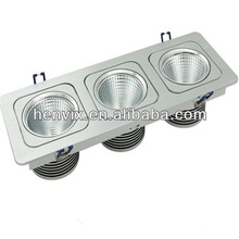 Réglable 15w led grille downlight