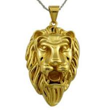 El oro caliente de la venta de los hombres pendientes del oro plateó el collar del león 18k
