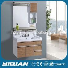 New Design Wall Mounted Mirror Resin Top Waterproof PVC Home Hardware Bathroom Vanities