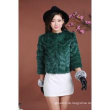 Qualitäts-Dame-Winter-Pelz-Kurzschluss-Mantel-Frauen-Art- und Weiseoutwear-warmer Pelz-Kurzschluss-Mantel-Jacke Großverkauf