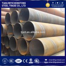 Tubulação de aço carbono soldada espiral do grande diâmetro Q235B SSAW / SAWH de 12 medidores em vendas