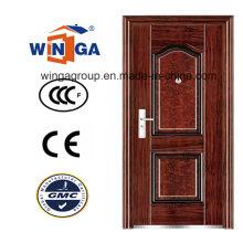 Venda a quente fora de segurança Metal Exterior Steel Iron Door