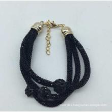 Pipe with Full of Diamond Bracelet (XJW13553)