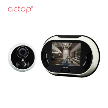 Layar TFT 3,5 inci Video Digital Peephole Viewer dengan fungsi Bel