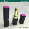 Metalized gold lipstick container with luxury shape