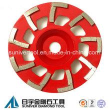 Beton Schleifen Topfscheibe mit L-Form Schleifen Segmente