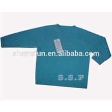 professioneller Hersteller Rundhals-Kabel stricken reiner Kaschmir-Baby-Pullover