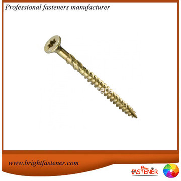 Yellow Zinc Plated Torx Head Long Wood Screws
