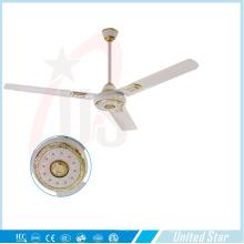 56''celling Fan Solar DC Fan Habitación grande Fan de enfriamiento Five Speed Regulator