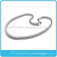 TKB-RN0045 Unique chaîne de serpent énorme collier de bijoux en argent massif en acier inoxydable 316L