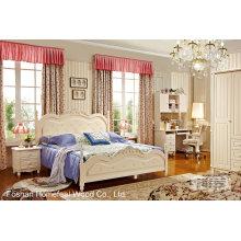 Ensemble de chambre à coucher classique en bois de haute qualité (HF-MG606)