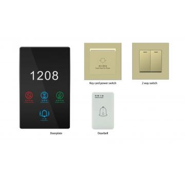 Smart Rcu 1 Gang Touch Metal per Smart Hotel