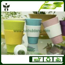 Caneca de bambu eco-amigável de 100%