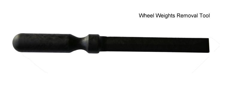 black wheel weight remover tool