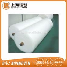 Белый спанлейс нетканые рулонов ткани для влажных wipes хлопка рулон ткани рулон ткани сплетенный PP