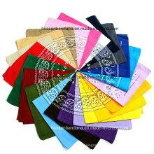 Promotional Printing Scarf Head Wrap Customized Paisley Cotton Printed Headwear Scarf Custom Bandana