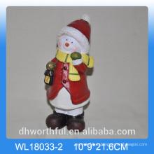 Оптовый керамический снеговик для рождественского украшения