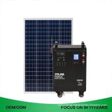 38Ah Dc 300W fora do sistema de energias solares portátil recarregável da grade 2Kw