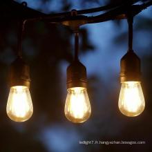 S14 Classic LED Cafe String Lights Noir