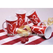 red color ceramic coffee mug
