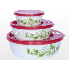 3 pcs 3d printer enamel storage bowl with PE lid