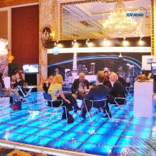 Système de plancher en verre d'éclairage décent pour la publicité, exposition commerciale, exposition