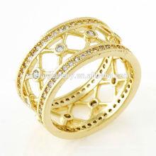 Frauen Ringe Krone geformt vergoldet Schmuck neues Produkt