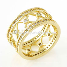women rings crown shaped gold plated jewelry new product