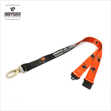 Full Color Dyed Sublimation Printing Lanyard with Oval Hook