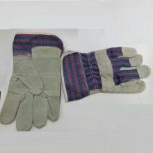 Корова Сплит кожа Хлопок Назад безопасности рабочих перчаток