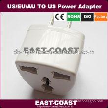 2PIN US To UK/US/EU/AU Travel Power Adapter