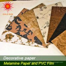 Papel decorativo del grano de madera para el conglomerado, HPL, MDF, suelo