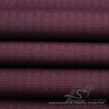 Wasser & Wind-resistent Outdoor Sportswear Daunenjacke gewebt Double-Striped Plaid Jacquard 100% Polyester Pongee Stoff (E059)
