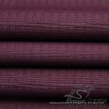 Imperméable à l'eau et à l'extérieur Vêtements de sport en plein air Sous-vêtement Tissé à carreaux double rayé Jacquard 100% Polyester Pongee Fabric (E059)