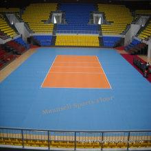 Дешевые крытый/напольный PVC блокируя/рулон / плитка волейбол этаж