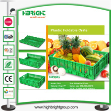 Caisse pliable de fruits de légumes en plastique