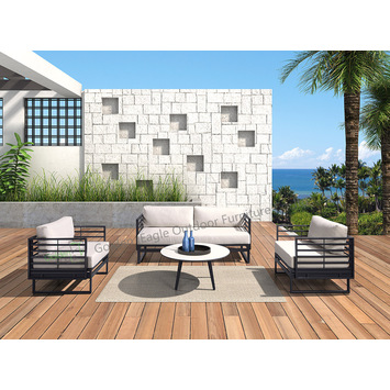 4pcs aluminum with HPL top garden sofa