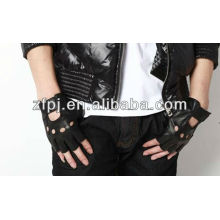 Großhandel billig Mann fingerless Lammfell Leder Handschuhe