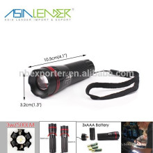 BT-4856 Zoom Zoom-en Zoom-out LED Torch Mini linterna Zoomable
