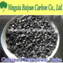 98% Calcinado Petróleo Coque Carbono Aditivo para aço
