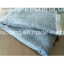 Lana de lana tejida 50% lana / 50% poliéster combinado Manta de refugiados de emergencia