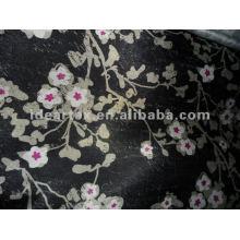 Flor impresa satén tejido de poliéster para vestido de señora y ropa de dormir personalizar