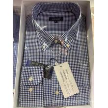 Camisa de algodão slim fit casual para homens