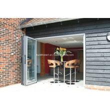 Двухслойные алюминиевые двери с двойным стеклом